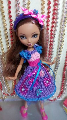 Handmade crochet clothes for Ever After High by OdejdaKykle