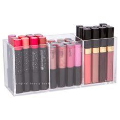 LIPGLOSS HOLDER//Acrylic Makeup Organization//$19.00//www.originalbeautybox.com