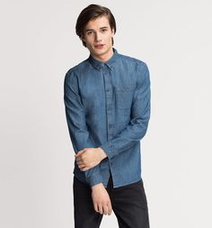 Jeanshemd Regular Fit in jeans-blau