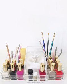 bathroom + vanity organization :: the beauty department