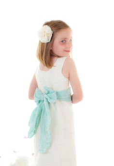 Ivory Flower Girl Dress choose your color silk by softadditions, £85.00