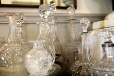 Vintage Glass Decanters | Rolling Greens