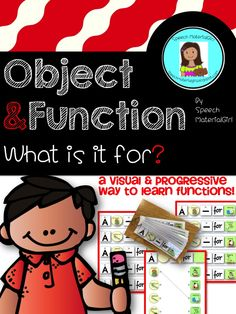 Speech Therapy.  Object Function Activity to identify the function of an object & put in a sentence.