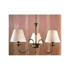 Lustrarte Lighting Classic Obidos 3 Light Shaded Chandelier Finish: Antique Brass Mat