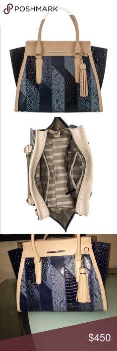 New❗️Brahmin handbag Priscilla denim Velazquez medium satchel Brahmin Bags Satchels