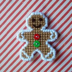 "Plastic Canvas Pattern Page: ""Gingerbread Folks"" designs, graphs and photos, no written instructions) ***PATTERN ONLY! Plastic Canvas Ornaments, Plastic Canvas Crafts, Plastic Canvas Patterns, Plastic Craft, Christmas Sewing, Christmas Cross, Christmas Things, Christmas Time, Christmas Decor"