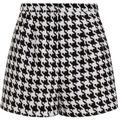 Emma Cook Houndstooth High Waisted Shorts ❤ liked on Polyvore featuring shorts, high-rise shorts, high-waisted shorts, emma cook, highwaist shorts and houndstooth shorts