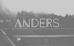 Anders is a modern and minimal font family. This experimental font is designed by Tom Anders Watkins has only the light version.