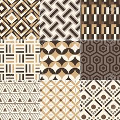 Illustration of seamless gold geometric retro pattern vector art, clipart and stock vectors. Textile Pattern Design, Textile Patterns, Pattern Art, Abstract Pattern, Geometric Pattern Design, Wall Patterns, Graphic Patterns, Print Patterns, Image Transparent