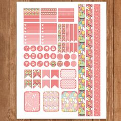 Pink SHEEP Planner Stickers Printable Erin by PrintThemAllStudio