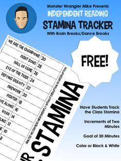 This chart was created to track the class' progress in building stamina for…