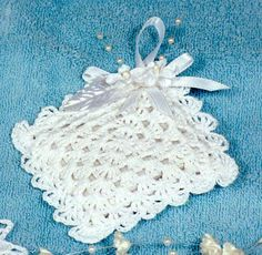 Bridal Shell Sachet Crochet Pattern