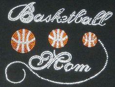 Basketball mom iron on hot fix rhinestone by LaLaBoutiqueBling Basketball Mom, Basketball Practice, T Shirt Press, Rhinestone Transfers, Motif Design, Mom Shirts, Workout Shirts, My Etsy Shop