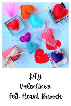 DIY Felt Heart Brooches make the perfect gift for your loved ones! Happy Valentine Day HAPPY VALENTINE DAY | IN.PINTEREST.COM WALLPAPER EDUCRATSWEB