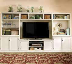 Really like the storage and decoration possibilities with these large media stations!