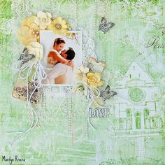 My Creative Scrapbook- LOVE - My creative Scrapbook using the LE kit july 2015 featuring Prima- Garden Fable