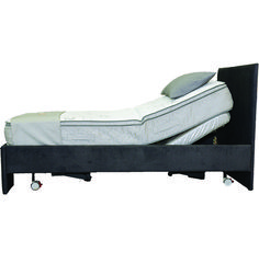 The Bluesky Healthcare Bodyline Back Lift Bed is designed to elevate the head rest of the bed from flat to just shy of 90 degrees.
