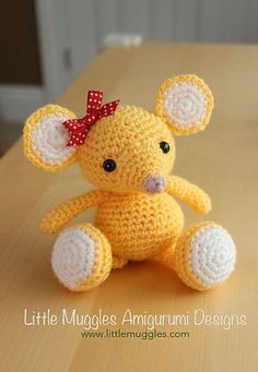 Ravelry: Buttons the Mouse pattern by Little Muggles