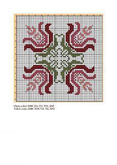Biscornu Cross Stitch, Cross Stitch Heart, Cross Stitch Borders, Cross Stitch Flowers, Cross Stitch Designs, Cross Stitching, Cross Stitch Embroidery, Cross Stitch Patterns, Crochet Stitches Patterns
