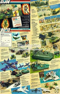 "Inserts, catalogs, brochures, pamphlets, booklets - Whatever you want to call them. These were the great full color ""poster"" size pages fol. Gi Joe, Retro Toys, Vintage Toys, 60s Cartoons, 80 Toys, Toy Catalogs, Figure Photography, Star Wars Toys, Book Format"