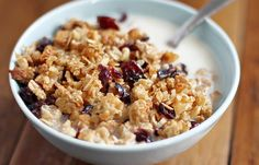 Cranberry, Coconut and Almond Granola - use gluten free oats