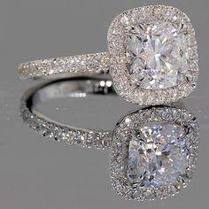 Wedding Rings #Capri #Jewelers #Arizona ~ www.caprijewelersaz.com ♥ Halo Engagement Ring