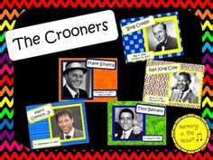 Aahhh.... Here is a bundle of gentlemen whose voices are smooth and full of charm. These are THE CROONERS: HARRY CONNICK, JR., FRANK SINATRA, BING CROSBY, TONY BENNETT and NAT KING COLE. Bundles SAVE MONEY$$ Music history is FUN and a great way for you to connect with your