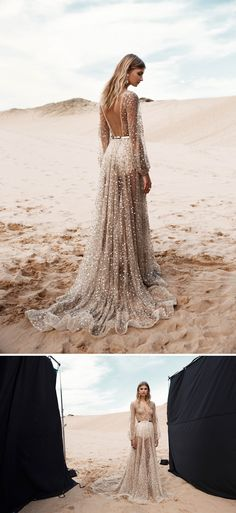 NALA - One Day Bridal // Sparkly wedding gowns and dresses with sleeves