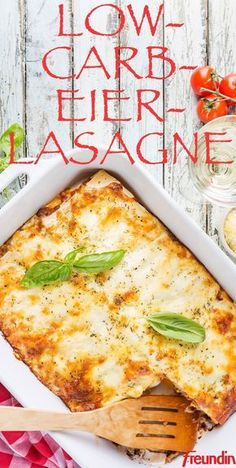 Low Carb Egg Lasagna: How It Works freundin.de - Feast without a guilty conscience: with this low-carb lasagna, the carbohydrates are replaced by - Egg Lasagna, Low Carb Lasagna, Lasagna Recipes, Lasagna Soup, Lasagna Rolls, Law Carb, Low Carb Recipes, Healthy Recipes, Low Carb Diet