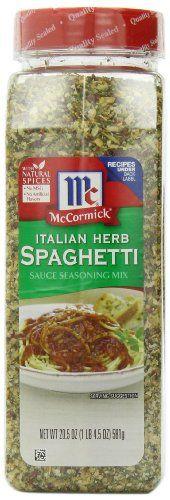 McCormick Italian Herb Spaghetti Sauce Seasoning Mix, 20.5-Ounce - http://spicegrinder.biz/mccormick-italian-herb-spaghetti-sauce-seasoning-mix-20-5-ounce/