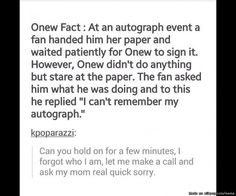 Onew condition