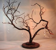 Carved Manzanita and Crystal Centerpiece/Wish by madamMANZANITA