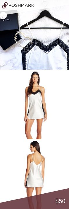 ⚡️GET IT NOW! 1 DAY SALE!⚡️🆕 NO OFFERS! Flora by Flora Nikrooz gorgeous white and black chemise . Cute little rhinestone in the middle for some details. 100% polyester. New with tags. ** one of the XL is missing the tag but is still brand new DEAL: 2 for $45 one black and one white. Flora by Flora Nikrooz Intimates & Sleepwear Chemises & Slips