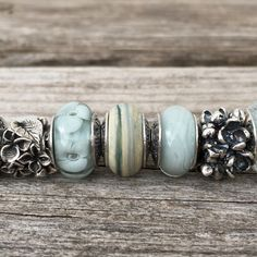 The True Beadz True Touch Marmor bead is absolutely stunning. There's a beautiful mix of blue, beige and green in it. Julia was kind enough to send some other beads with it and I think the Bl…