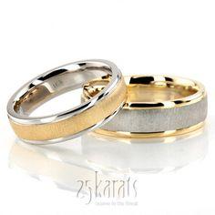 reverse matched wedding band set