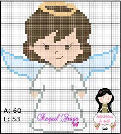 Oi amadinhas.  Quem aí quer bordar fofuras para os pequenos?  Hoje trouxe como sugestão gráficos de anjinhos que fiz, espero que gostem.    ...
