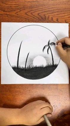 Unique Drawings, Art Drawings Beautiful, Art Drawings Sketches Simple, Pencil Art Drawings, Easy Drawings, Imagination Drawing, 3d Art Drawing, Diy Canvas Art, Art Tutorials