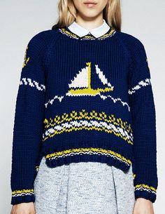 sea sweater. Anggurfliga.