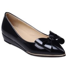 $19.68 Elegant Women's Flat Shoes With Bow and Pointed Toe Design