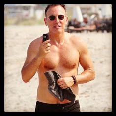 The Boss on the beach!