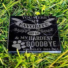 Pet memorial stones are one of the most popular ways to honor a pet that has passed away. Whether you are looking for a stone plaque to hang on your wall, a customized garden stone, or a granite marker to indicate where a pet is buried, Perfect Memorials has a great selection of stone memorials... more details available at https://perfect-gifts.bestselleroutlets.com/gifts-for-pets/for-cats/product-review-for-personalized-dog-memorial-customized-dog-grave-marker-custom-headsto