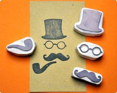Great hand carved rubber stamps