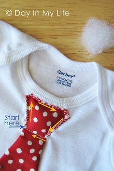A Day In My Life: Tie Onesie - with batting for the knot to make it stick out... too cute!