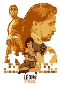 Leon The Professional Movie Poster, available at 45x32cm.This poster is printed on matt coated 350 gram paper.