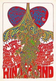 """Grateful Dead/Moby Grape/Loading Zone, March 3, 1967 - Winterland """"Love Circus"""" Art by Herrick"""