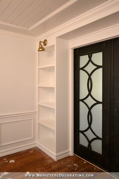 DIY Pocket Door Bookcases U2013 Finished!