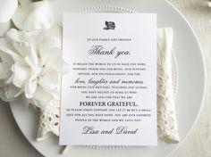#thankyoucard #weddingreception #weddingdetails  https://www.etsy.com/listing/495299898/printable-wedding-reception-thank-you