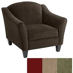 """Abbie Armchair - Chocolate    $499.95  At Pier 1, we don't believe it's possible to be too picky. That's why we have made our Abbie Arm chair available in four different colors so feel free to be as picky as you please.  # Color: Chocolate (as shown) Also available in Berry, Taupe, Sage  # Size: 37""""W x 36""""D x 30""""H"""