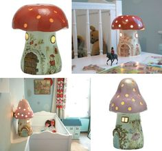 The pink one would be a cute addition to Madeline's fairy room.