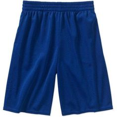 Athletic Works Boys' Mesh Shorts, Size: 6/7, Blue